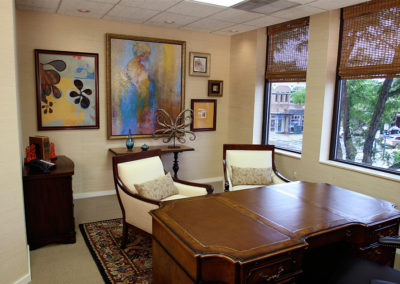 The owner of this law firm wanted to surround himself with art.  We researched the options and together we selected the art and arranged it along with additional furniture.