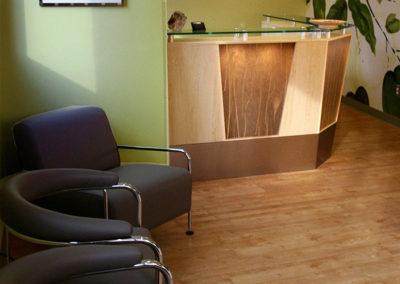 This dental office asked us to give them an outdoor inspired, yet contemporary feel.