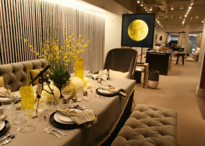 Kravet showroom at Michigan Design Center asked Dan Davis Design to stage a 'Star Gazing' place setting