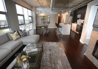 Nearly every room in this open-concept loft was updated to create a cohesive, contemporary vibe.